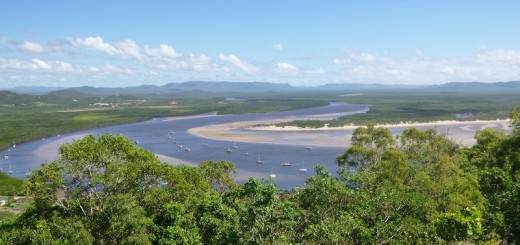 Endeavour River in Cooktown Bergblick