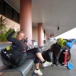 Warten auf den Zug in Mackay nach Gladstone