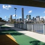 So sehen in Brisbane die Radwgege aus
